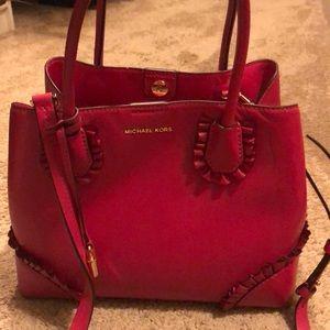 Michael Kors dark pink purse